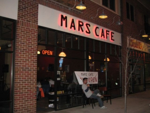 The front of Mars Cafe