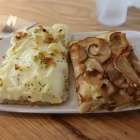 Slices of Potato Rosemary and Blue Cheese Pear Pizza at Flour